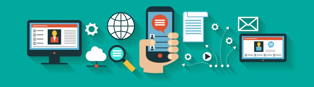 Infographics background network communication. Concept Internet comunications. Set icons