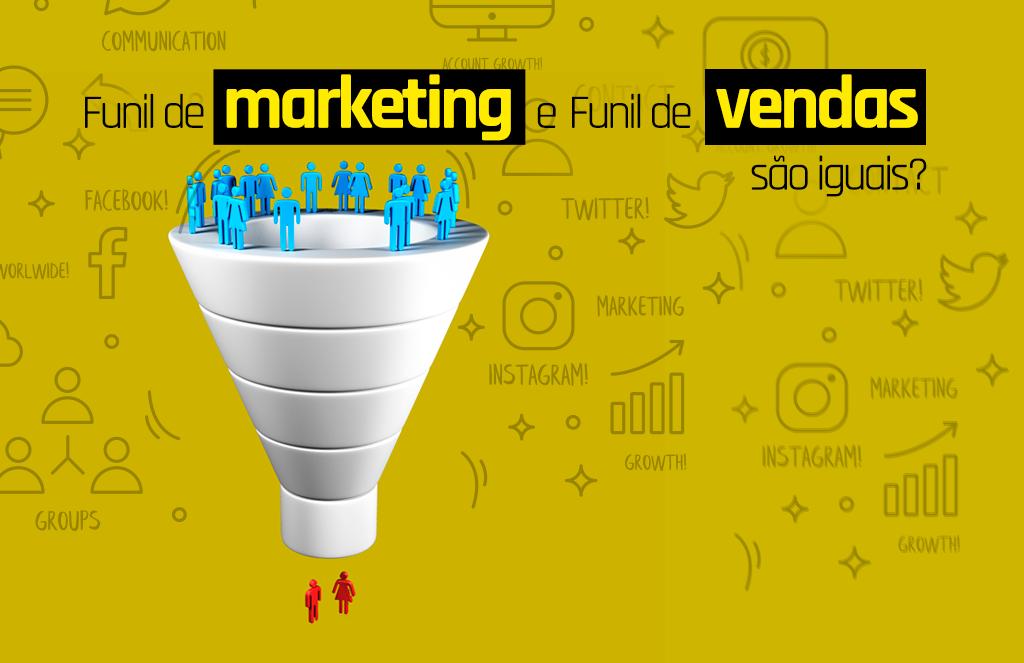 funil de marketing e funil de vendas